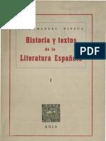 Historia y Textos de La Literatura Espanola i