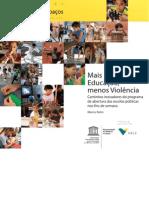 mais educação menos violencia