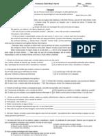Exercícios interpretação,  suj, pred e classes gramaticais