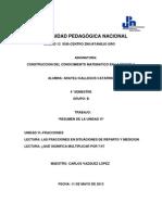 Reporte de Matematica Unidad 6 Fracciones