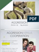 Lecture 15 - Aggression