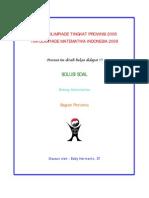 Solusi Olimpiade Matematika Tk Provinsi 2008 Bagian Pertama