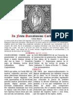 Fiesta del Sagrado Corazón de Jesús. Folleto bilingüe PDF