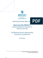 Bentley May 7th Forum Sponsorship Matters Overview 5-1-13