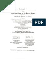 Brief in Opposition, City of Los Angeles v. Lavan, No. 12-1073 (May 24, 2013)