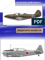 WW II Russian Aircraft Prints (CLW Graphics)