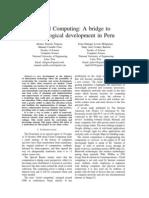 Cloud Computing a bridge to technological development in Peru