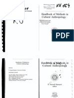 Bernard, H. R. Handbook of Methods in Cultural Anthropology