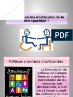 obstáculos de la discapacidad