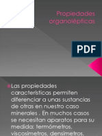 Propiedades organolépticas