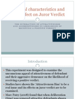 Personal Characteristics and There Effect on Juror Verdict