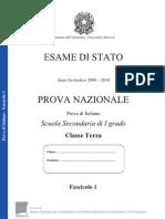 Invalsi Prova italiano 2010