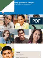 CIE A-Level Recognition Brochure