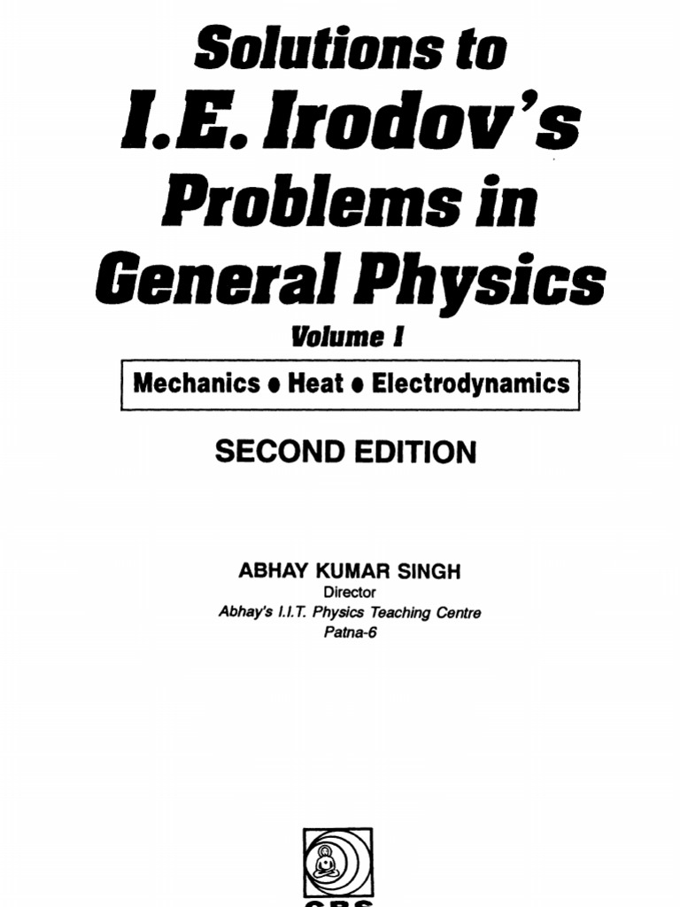 Solutions to IE Irodov's Problems in General Physics