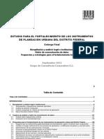 Estudio para el fortalecimiento de los instrumentos de planeación urbana en el D.F.