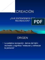 DIAPOSITIVAS RECREACIÓN