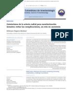 Cateterismo de la arteria radial para monitorización