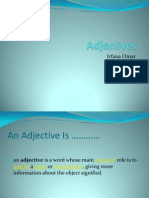 Adjectives ....