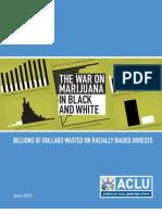 ACLU The War On Marijuana