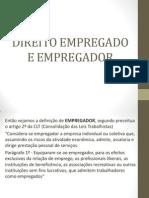 Aula 2.1 Direito Do Empregado e Empregador