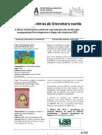 Lista de indicação de Literatura Surda para aquisições- comentada