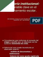 La Historia Institucional