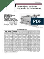 QAF (GD-300Q) Continuous Duty Pump Brochure & Data Sheet