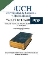 1ra Clase Taller de Lenguaje II El Texto Cpc2013