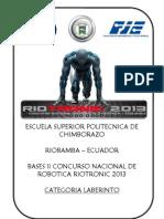 Reglamento Categoria Laberinto Riotronic 2013