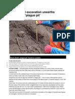 London Rail Excavation Unearths Suspected