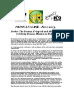 Borko Press Release June 2013 1