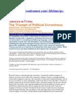 o Politicni Korektnosti in Doris Lessing
