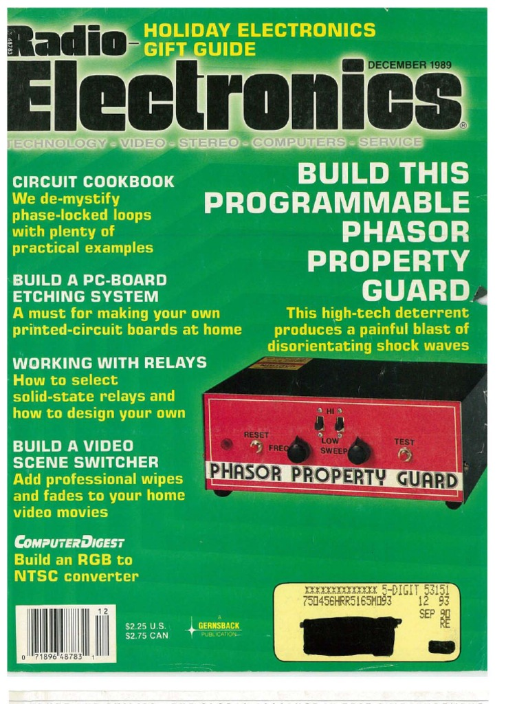 Re 1989 12 Television Electrical Connector Make Your Own Printed Circuit Board