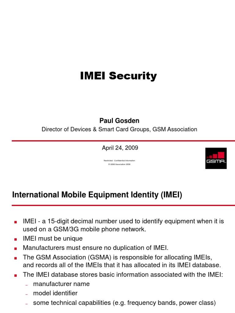 IMEI Security | Mobile Telecommunications | Telecommunications