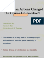 Presentatioin on Have Human Actions Changed the Course of Evolution