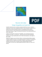 Resumen Origen Geográfico de Costa Rica