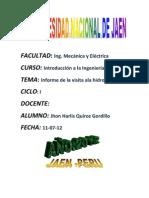 Copia (2) de Informe de Visita a La Cetral Hidroelectrica La Pelota