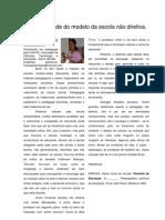 A inviabilidade do modelo da escola não diretiva, Por Maria da Ajuda Santos, Barro Alto-BA