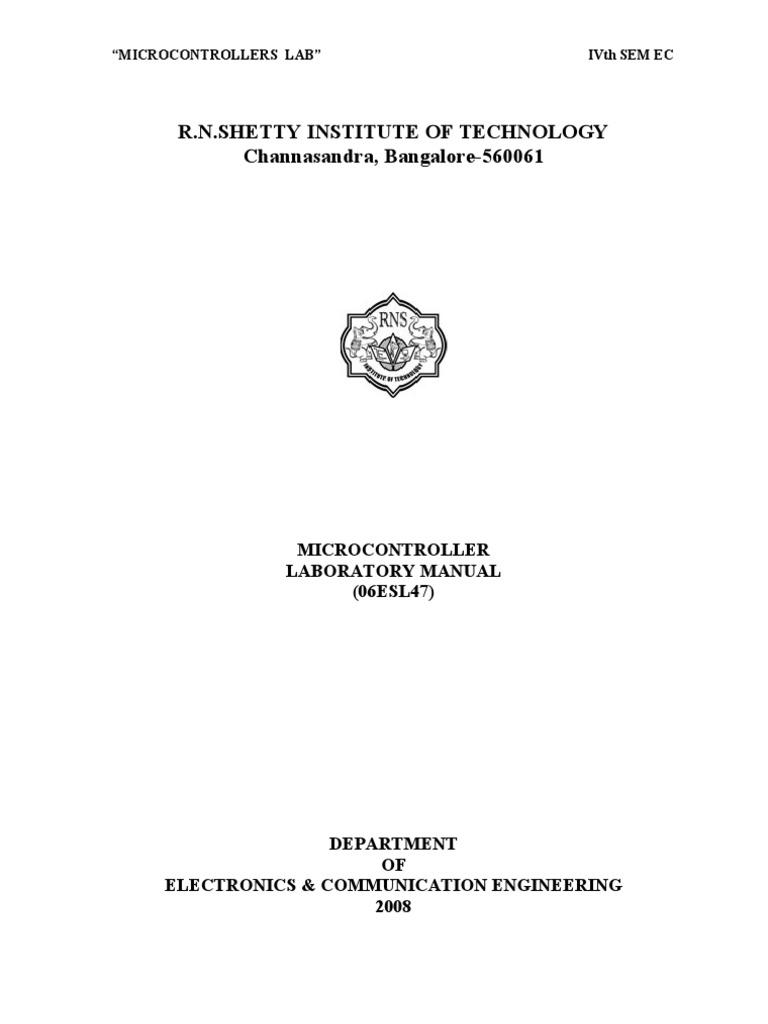 101068037 microcontroller lab manual binary coded decimal rh scribd com microcontroller 8051 lab manual vtu microcontroller lab programs vtu