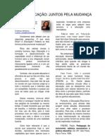 ÉTICA E EDUCAÇÃO - JUNTOS PELA MUDANÇA, Por Luana Alecrim, Barro Alto-Ba