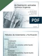 Tecnicas de Destilacion Aplicadas en Quimica Organica