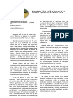 Migração, até quando - Por Valdecino Benício, Canarana-BA