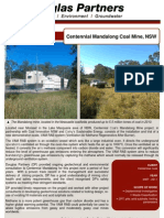 2011 Mandalong Coal Mine NSW Project Profile