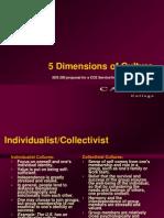 5 Dimensions of Culture