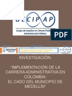 Implementacion de la carrera administrativa en Colombia