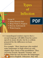 Types of Inflection