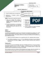 Hoja de Trabajo No. 7 Prueba d Hipot. Proporcion y Ji Cuadrada