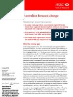 HSBC Downgrades Aust GDP Forecast