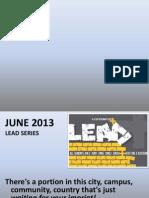 LEAD SERIES 2013 Intro to Nehemiah