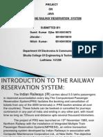 PPT Online Railway Reservation System